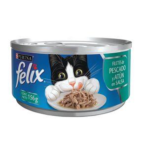 Snacks-para-gato-FELIX-FILETES-de-Pescado-y-Atun-en-salsaPURINA-Atun----156gr