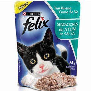 Snacks-para-gato-FELIX-SENSACIONES-de-Atun-en-SalsaPURINA-Atun----85gr