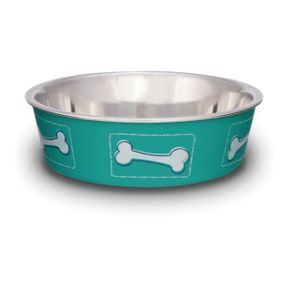 Comederos-para-perro-Comedero-Coastal-Huesos-Aguamarina-Small-Loving-Pets-