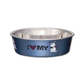 Comederos-para-perro-Comedero-Expression-Amor-Azul-Medium-Loving-Pets-