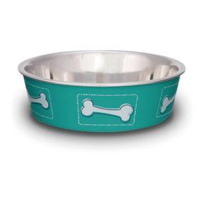Comederos-para-perro-Comedero-Coastal-Huesos-Aguamarina-Medium-Loving-Pets-