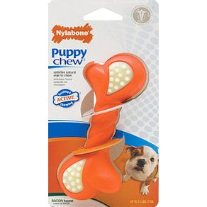 Juguetes-para-perro-Puppy-Chew-Double-Action-Petite-Tocino-Nylabone-Cachorros-