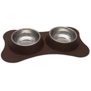 Comederos-para-perro-Comedero-Doble-Flexible-Chocolate-Loving-Pets-