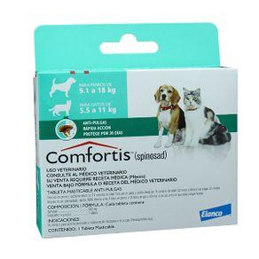 Antiparasitarios-Externos-Comfortis-Perros-De-91-18-Kilos---Gatos-De-55---11-Kilos-Elanco
