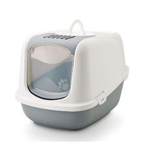 Arenera-para-Gato-nestor-sanitario-con-tapa-y-filtro-56x39x38.5cm-color-blanco-azul-SAVIC-