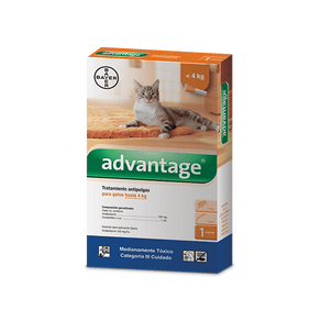 Antiparasitarios-Externos--Advantage-Gatos-Hasta-4-Kg-Bayer