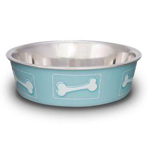 Comederos-para-Perro-Loving-Pets-Comedero-Coastal-Huesos-Azul-Medium