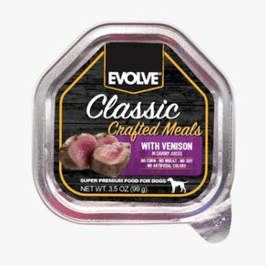 Alimento-Perro-EVOLVE-EVOLVE-DOG-CLASSIC-BANDEJA-CRAFTED-MEALS-VENADO-3.5-OZ---99-GR