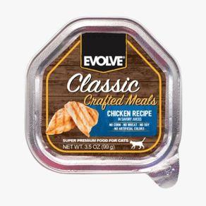 Alimento-Gato-EVOLVE-CLASSIC-BANDEJA-CRAFTED--POLLO---35OZ