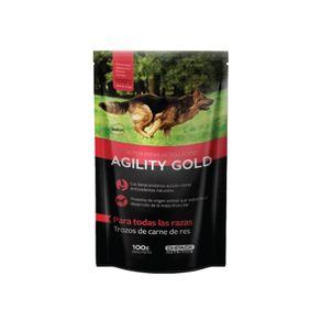 Alimento-Perro-Agility-Gold-En-Trozos-de-Carne-de-Res-100gr