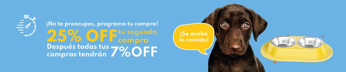 25% en tu primer pedido - Recompra - tienda de mascotas